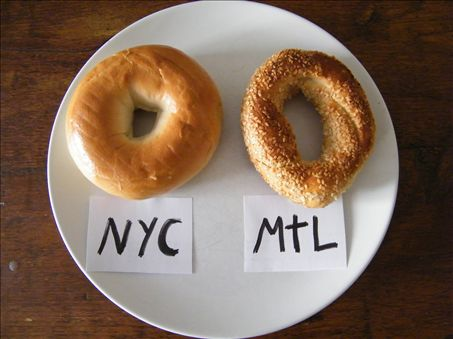 NY Bagel v.s Montreal Bagel /Via Kettlemans Bagels