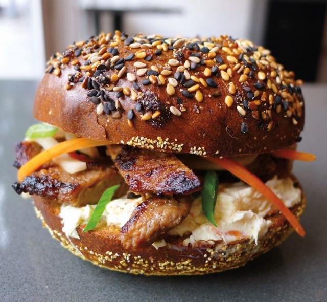 Korean BBQ Bagel Sandwich