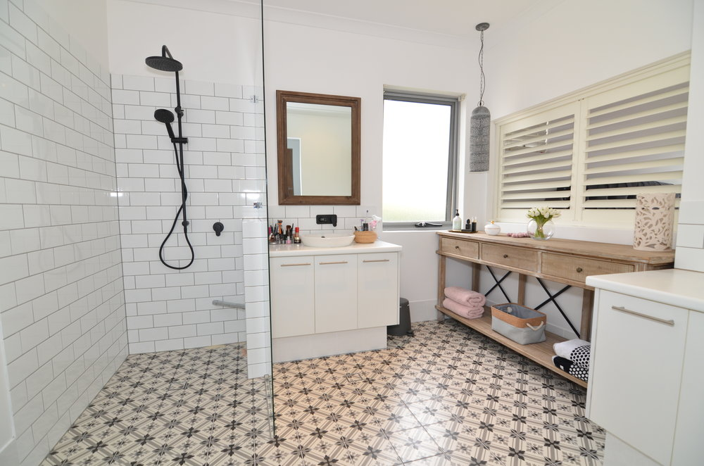 bathroom renovation subway tiles morrocan luxury