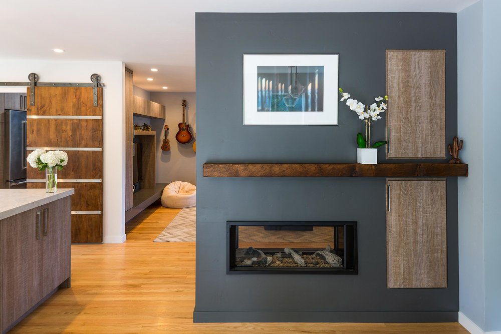 Two Sided Modern Fireplace