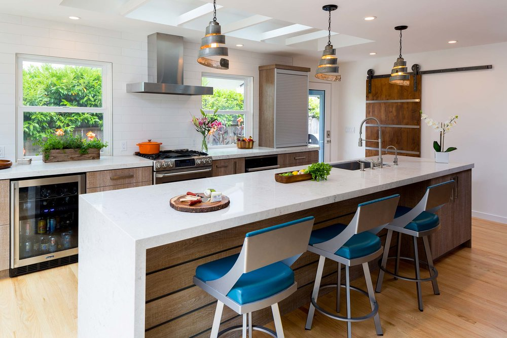 MODERN MEETS INDUSTRIAL CHIC - KITCHEN, LIVING, DINING ROOM REMODEL