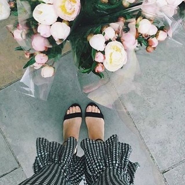 Party pants & peonies - doesn't get much better