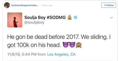 Soulja Boy vs. Rico Recklezz