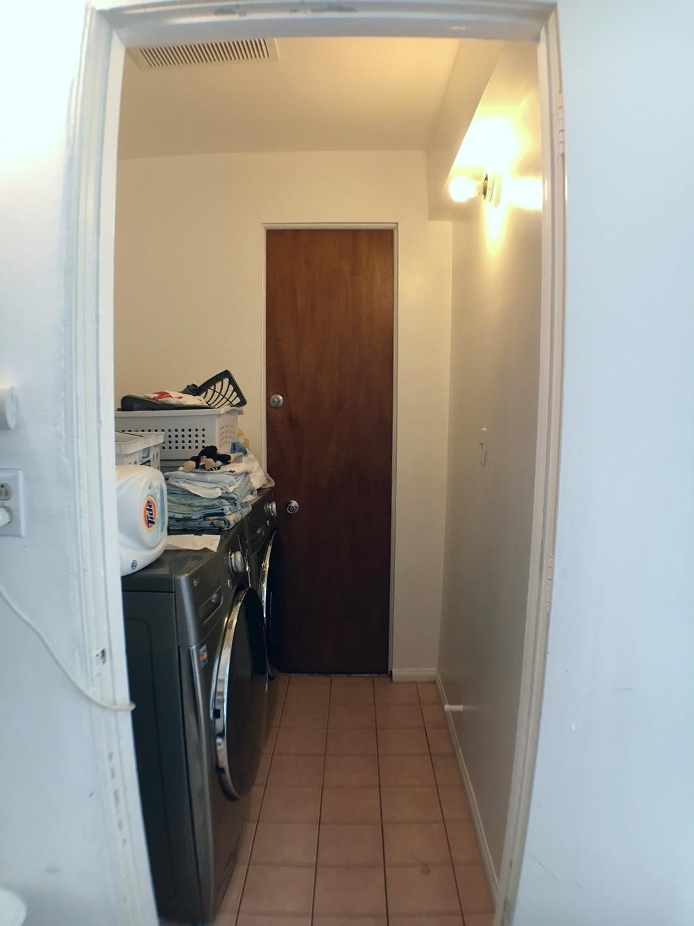 And finally the tiny laundry room!