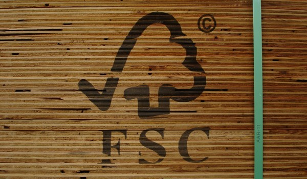 Look for the Forest Stewardship Council logo on wood products.