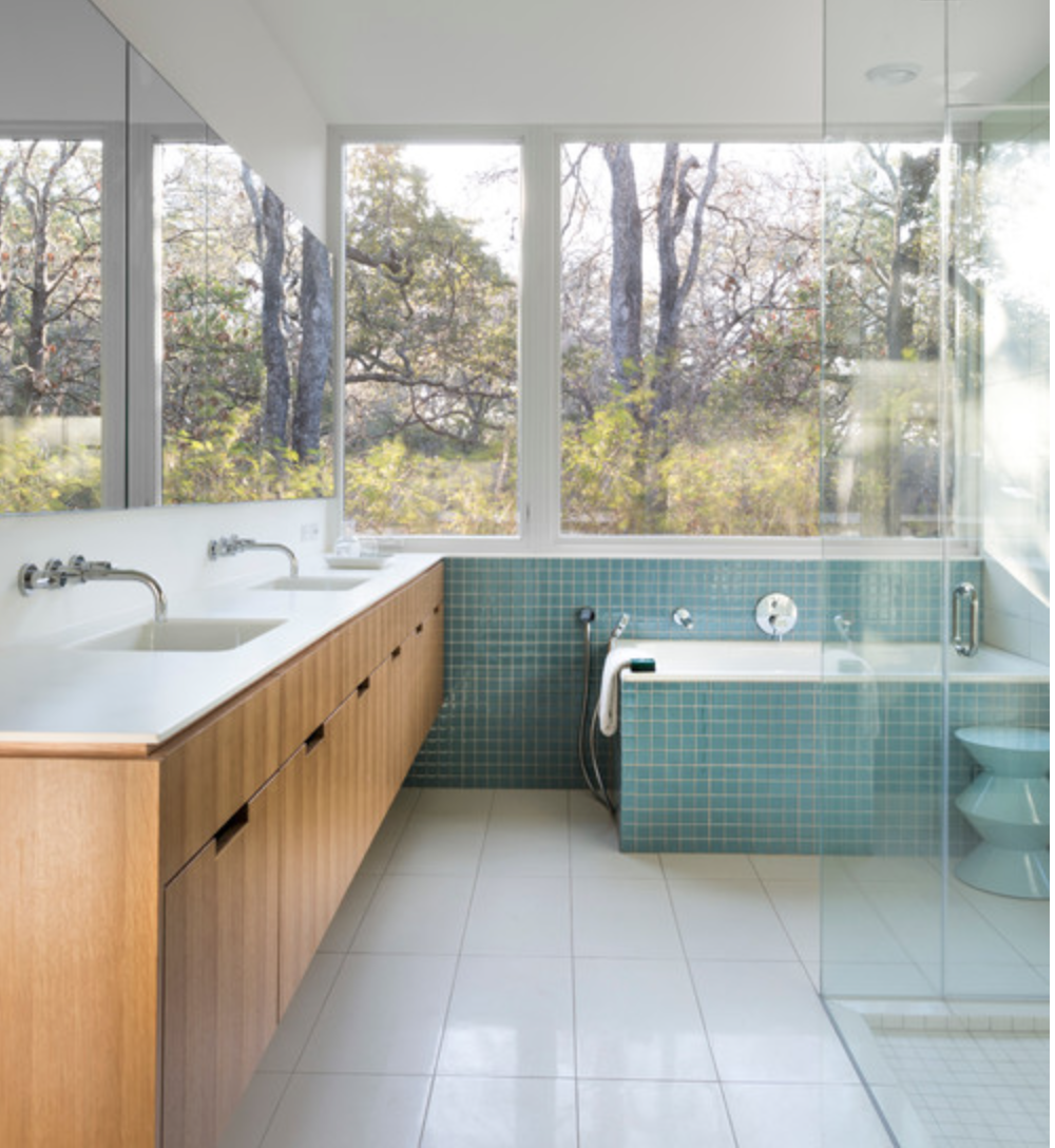 Photo by Whit Preston of bathroom by Tim Cuppett Architects.  Courtesy of Houzz.