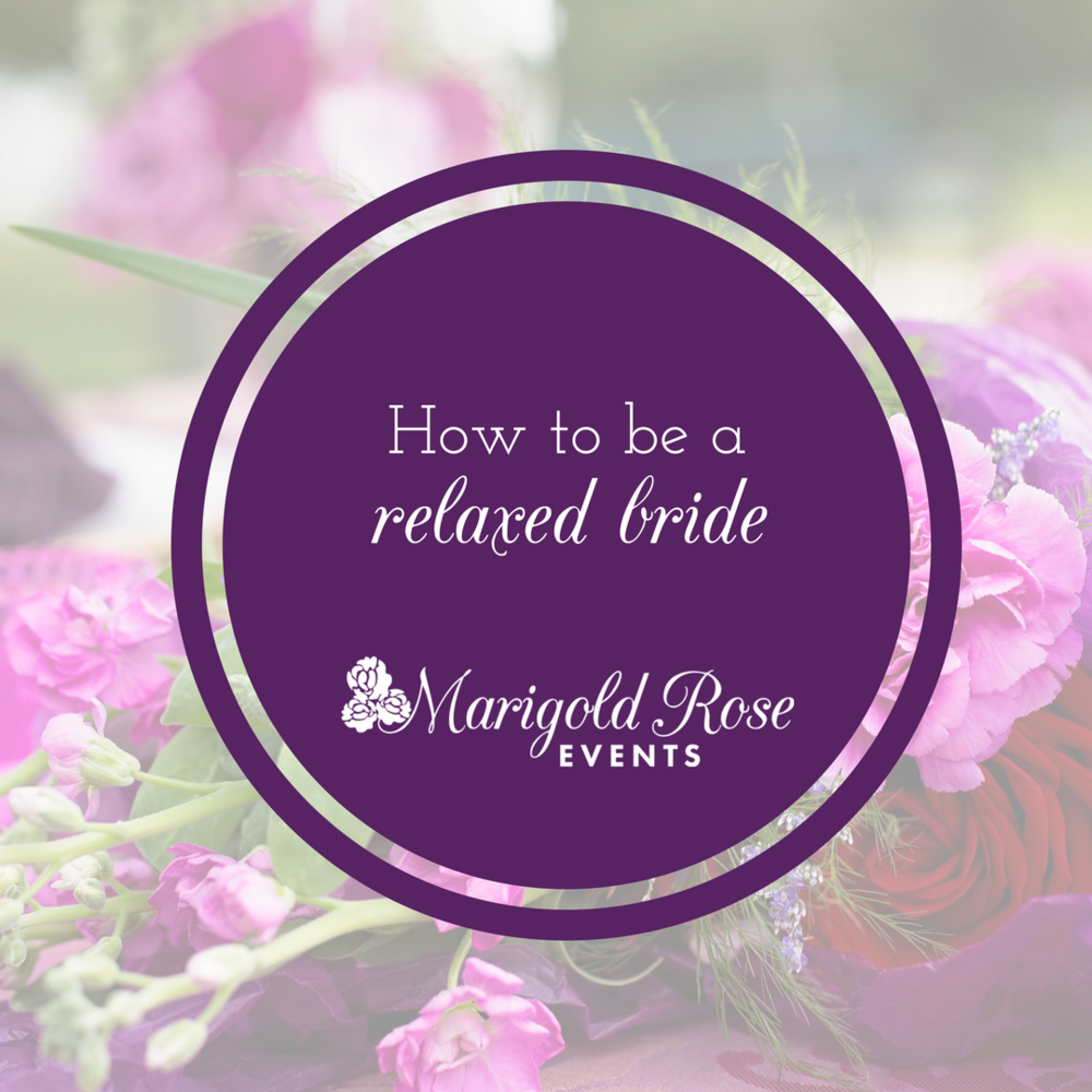 Get rid of those wedding day jitters!