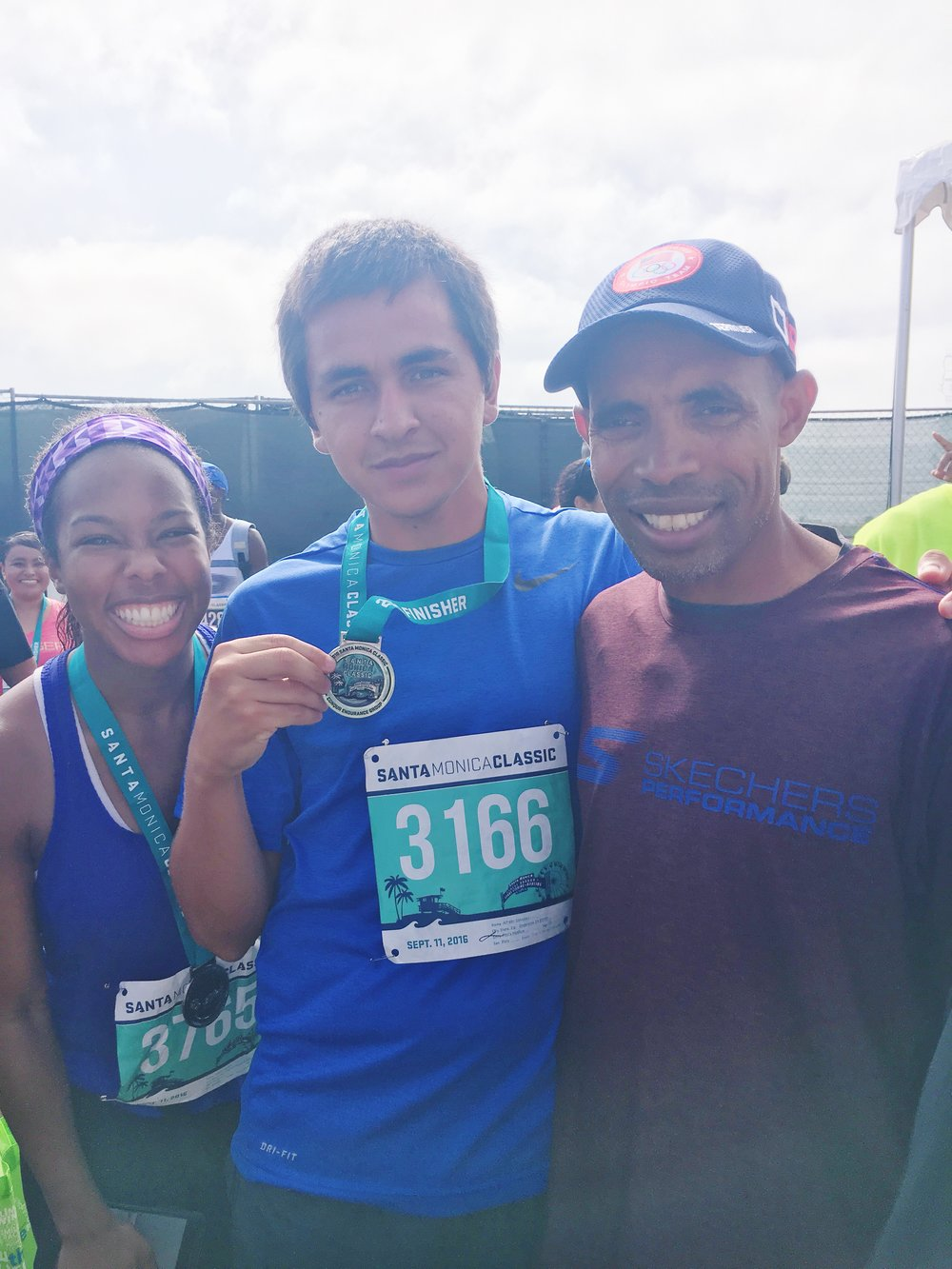Picture with Meb Keflezighi