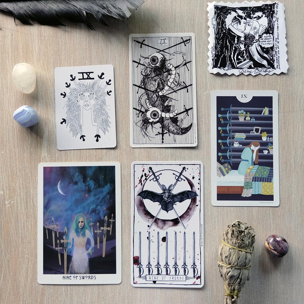 Decks used:  Spirit Speak Tarot  (Mary Elizabeth Evans),  The Wild Unknown Tarot  (Kim Krans),  Light Grey Tarot  (Alyssa Nassner),  Starchild Tarot  (Danielle Noel),  Lumina Tarot  (Inner Hue)