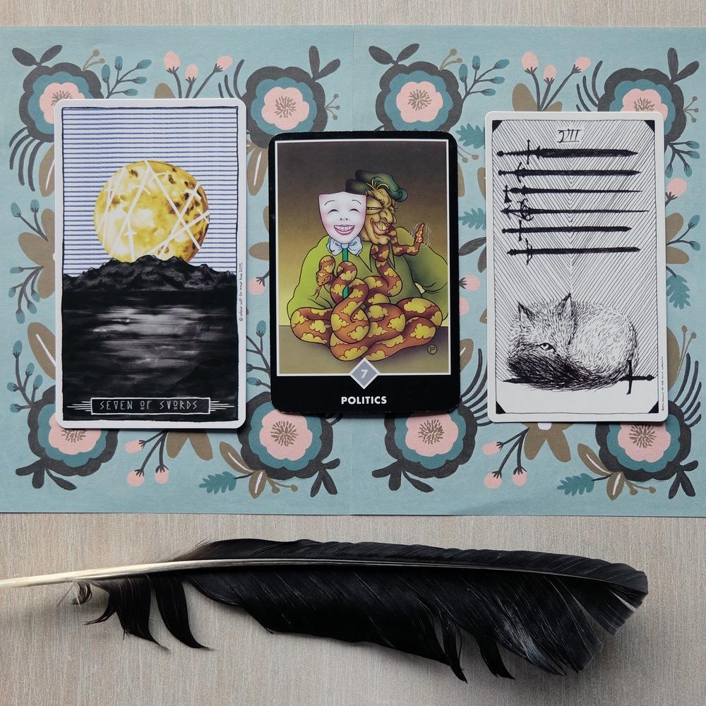 Decks used: Lumina Tarot ( Inner Hue ), Osho Zen Tarot ( Osho ),  The Wild Unknown  (Kim Krans)