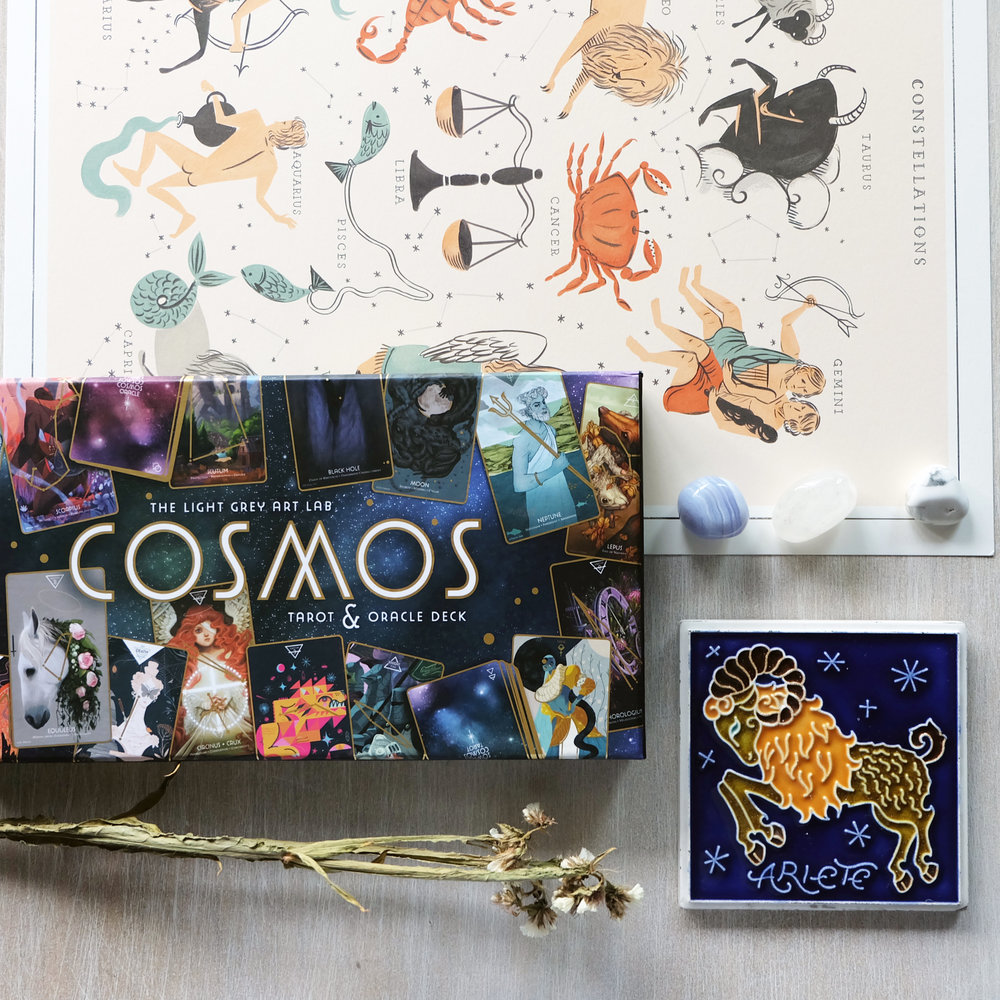 Deck used:  The Cosmos Tarot & Oracle  (Light Grey Art Lab)