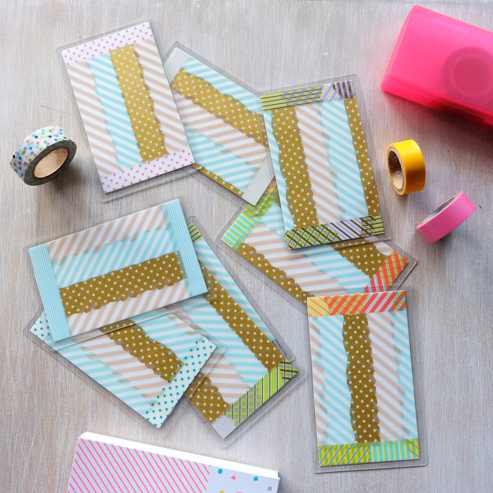 Clearly, I pulled out all the stops when it came to Washi tape!