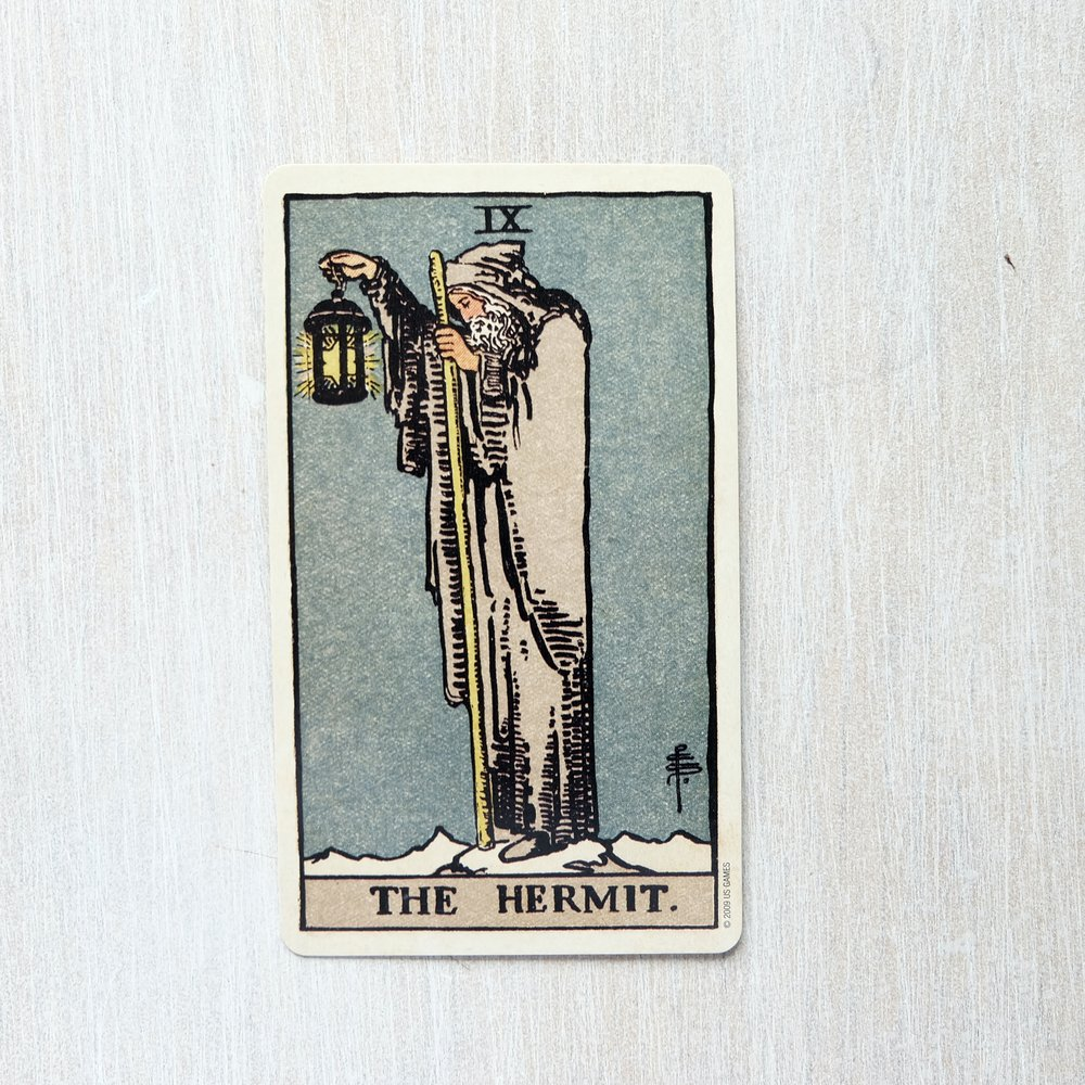 Moment of appreciation for my birth card (and my forever bae), The Hermit.