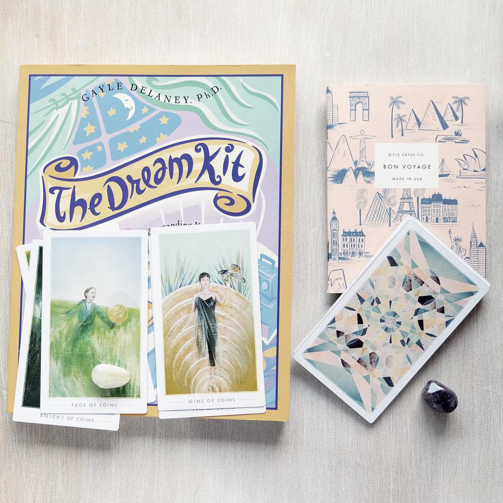 Decks used:  The Dream Kit  (Gayle Delaney),  The Fountain Tarot  (Jason Gruhl,Jonathan Saiz, Andi Todaro)