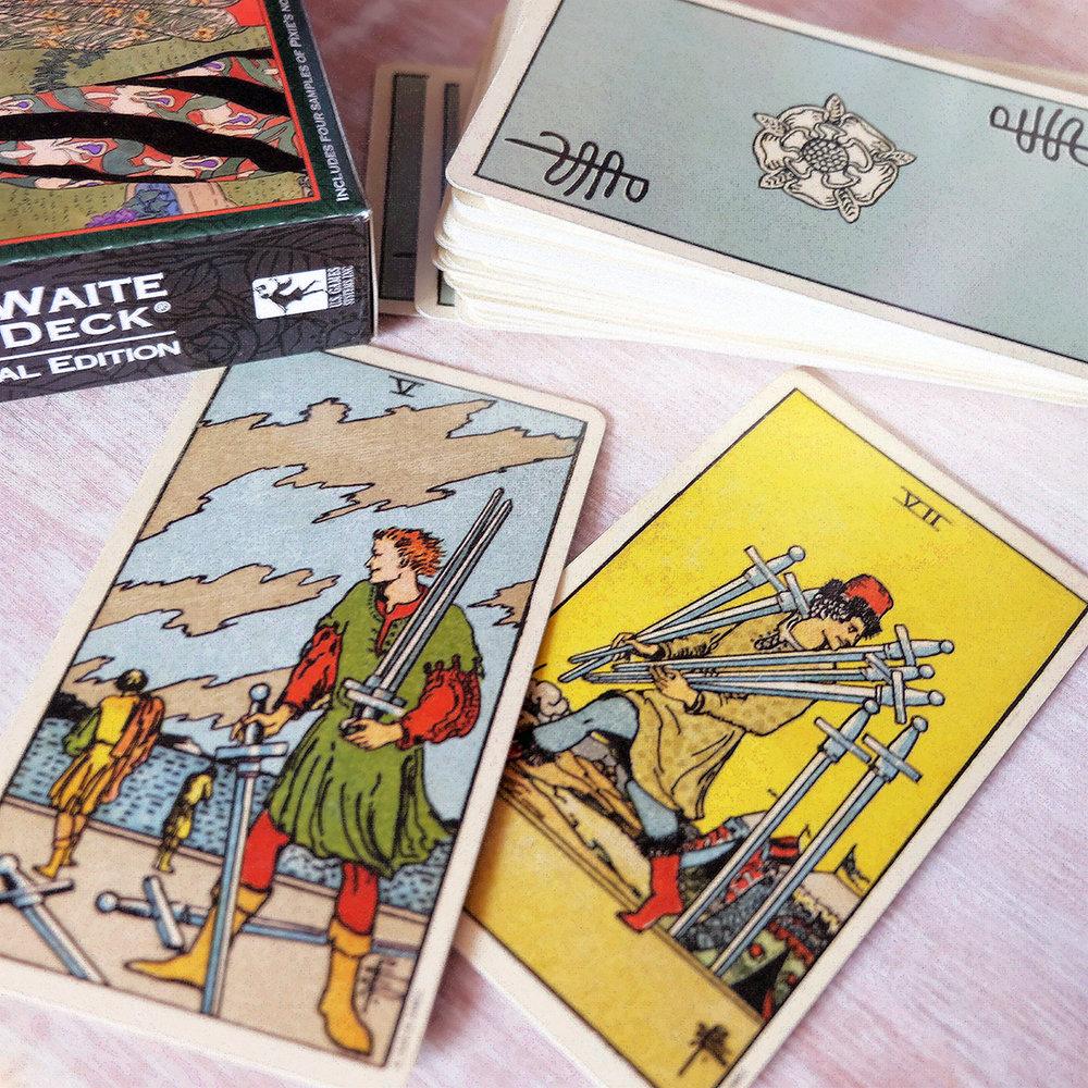What a sneaky little son of a… [Deck used: Centennial Smith Waite Tarot (Pamela Colman-Smith)]