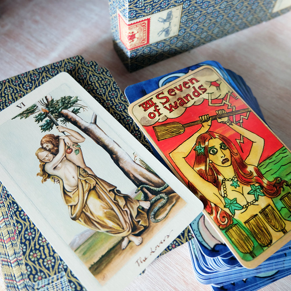 I can tolerate drama in readings but I have a low threshold for it in real life! [Decks used:  Pagan Otherworlds Tarot  (UUSI) and  Dame Darcy Mermaid Tarot  (Dame Darcy)]