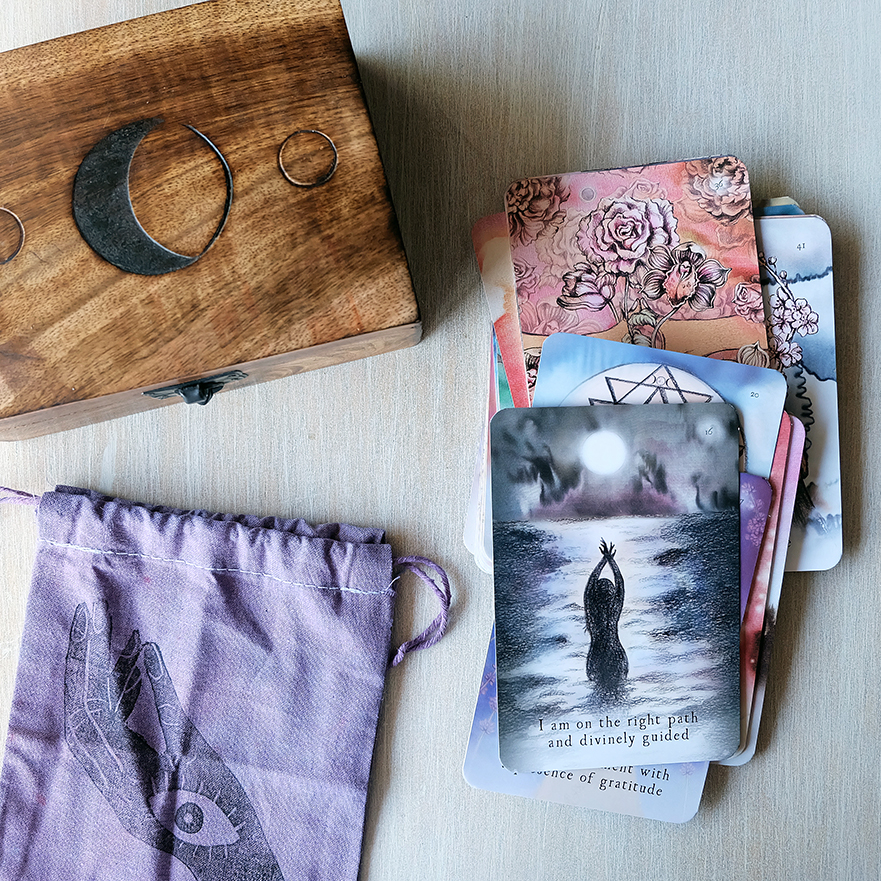 In need of a New Moon message? Head over to my Instagram page for today's Moon Deck reading. // Bag by Circo Tarot (Marisa dela Peña)