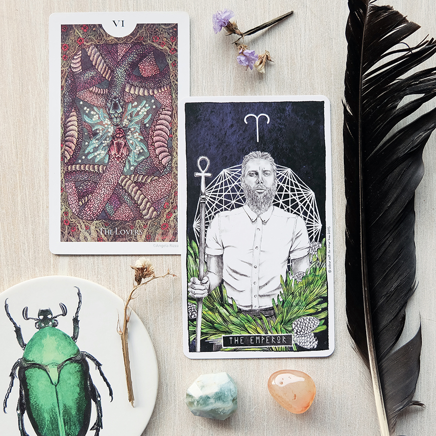 Decks used:  Light Grey Tarot  (Light Grey Art Lab) and  Lumina Tarot  (Lauren Aletta, Inner Hue)