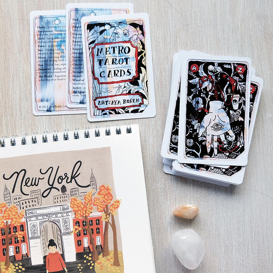 Deck used:  Metro Tarot Cards  (Aya Rosen, Gamecrafter)