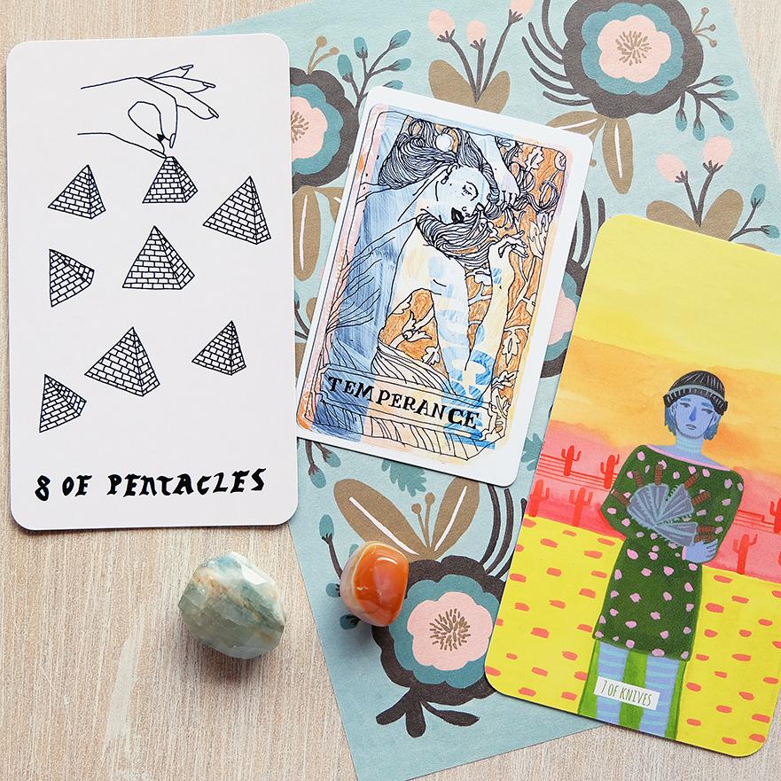 Decks used: Small Spells Tarot (Rachel Howe), Metro Tarot Cards (Aya Rosen), Circo Tarot (Marisa dela Peña)