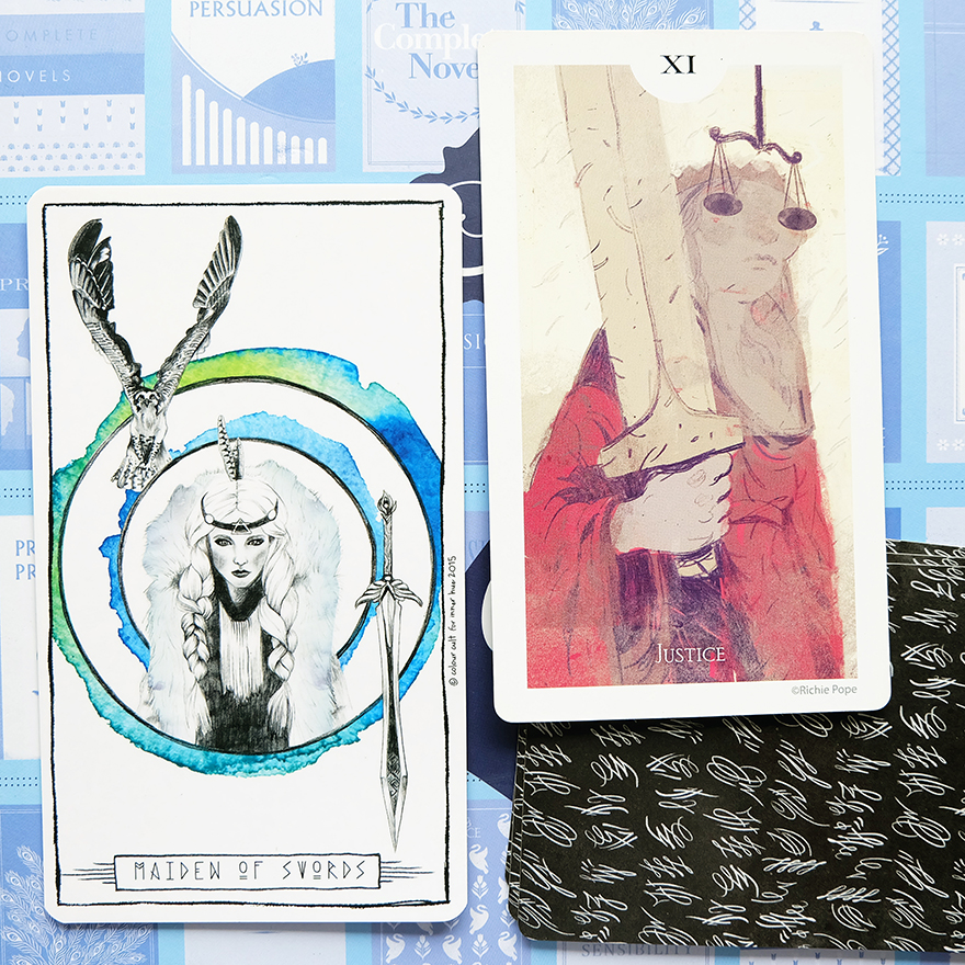 Decks used:  Lumina Tarot  (Lauren Aletta, Inner Hue) and  Light Grey Tarot  (Light Grey Art Lab)