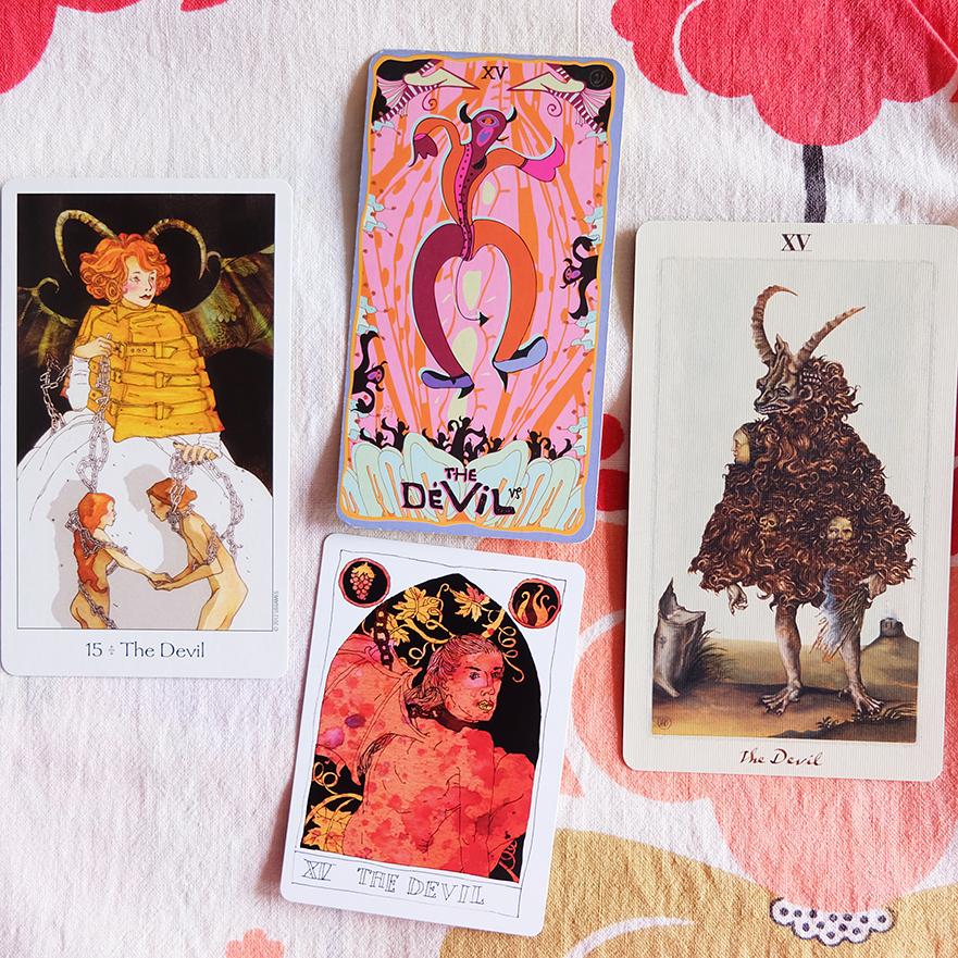 Decks used:  Dreaming Way Tarot  (Kwon Shina and Rome Choi, US Games),  Sakki Sakki Tarot  (Monicka Clio Sakki),  Pagan Otherworlds Tarot  (UUSI),  Black Lilly Tarot  (Aya Rosen, Gamecrafter)