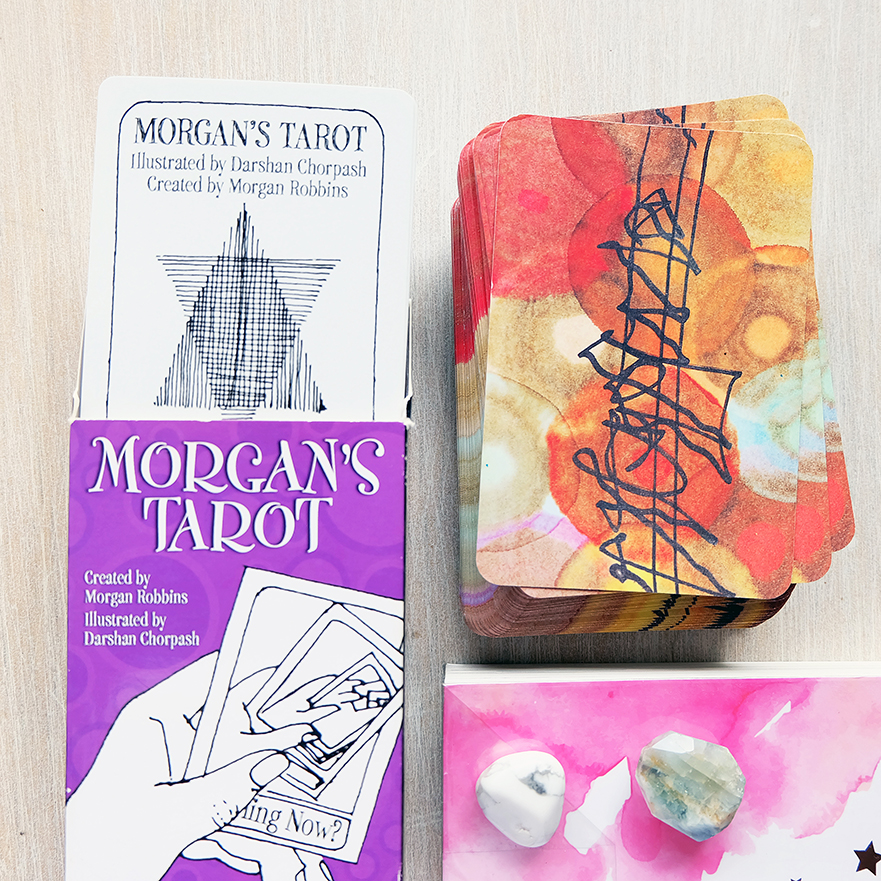 Decks used: Morgan's Tarot (Morgan Robbins and Darshan Chorpash, US Games) and Osho Zen Tarot (Osho)