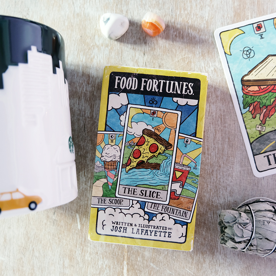 Deck used: Food Fortunes (Josh Lafayette, Chronicle Books)