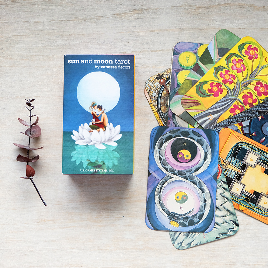 Decks used:  Sun and Moon Tarot  (Vanessa Decort, US Games) and Thoth Tarot (Aleister Crowley, AGM Urania)