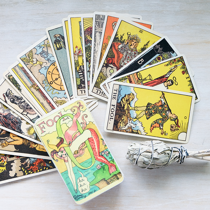 Decks used:  Dame Darcy Mermaid Tarot  (Dame Darcy) and the  Centennial Smith-Wait e (Pamela Colman-Smith, US Games)