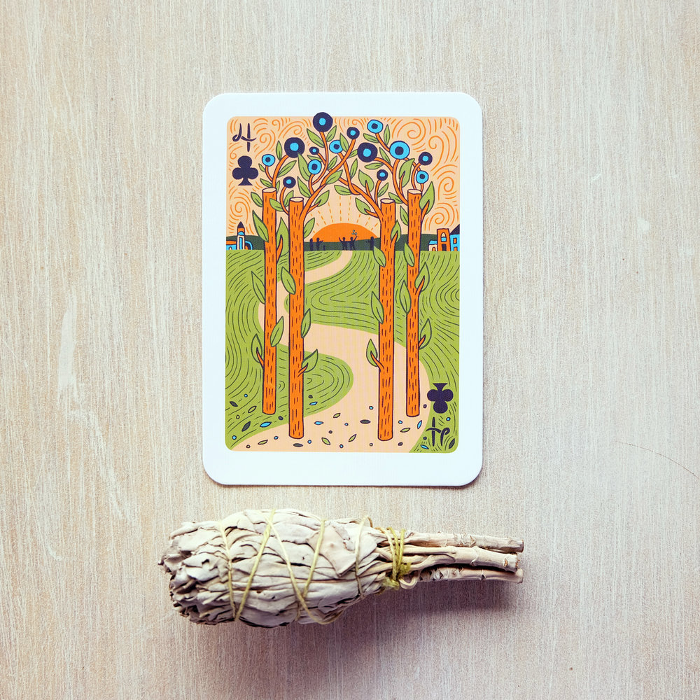 Deck used:  The Illuminated Tarot  (Caitlin Keegan)