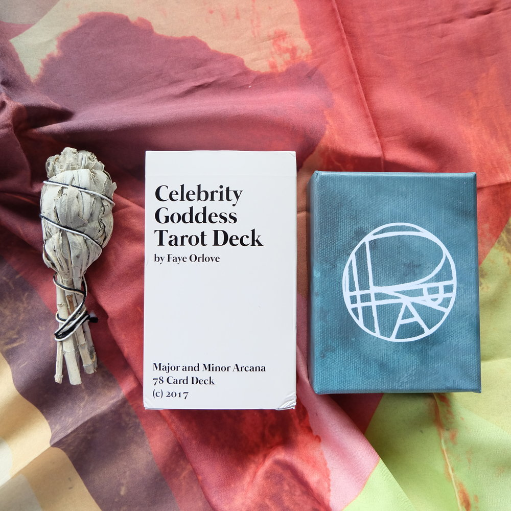 Decks used:  Celebrity Goddess Tarot  (Faye Orlove) and  Ritual Oracle  (Kristi Prokopiak, Ritual Tarot)