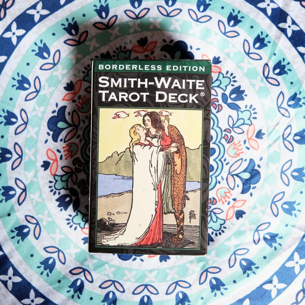 Deck used:  Smith-Waite Tarot Borderless Edition  (Pamela Colman Smith, US Games)