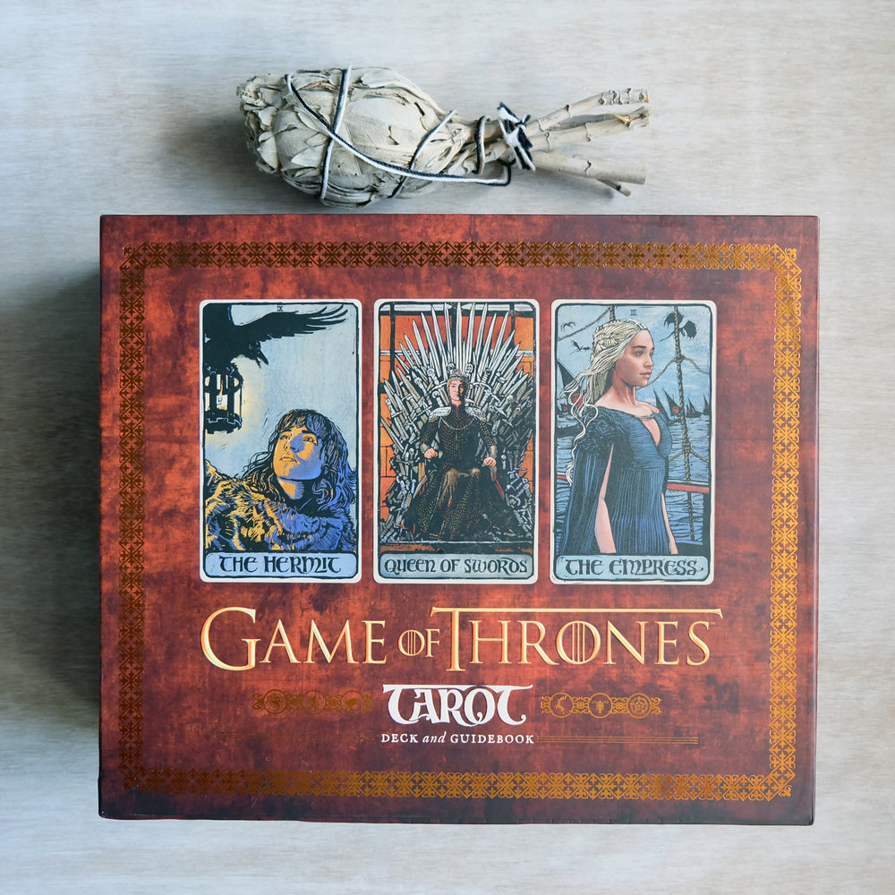 Deck used:  Game of Thrones Tarot  (Text by Liz Dean, Art by Craig Coss; Chronicle Books)