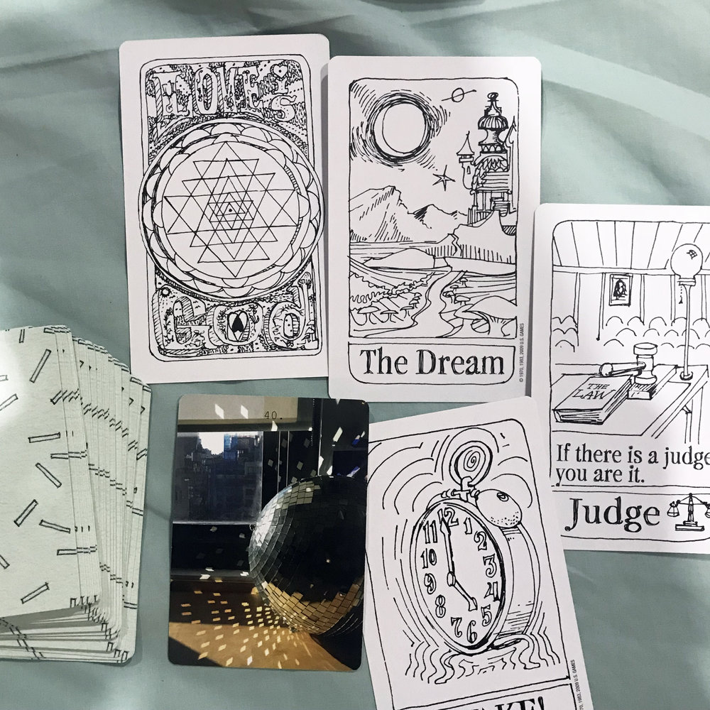 "The cards were spot on with themes that have been my head all through my training—waking up, learning about ""reality"" as a construct, and non-judgement."