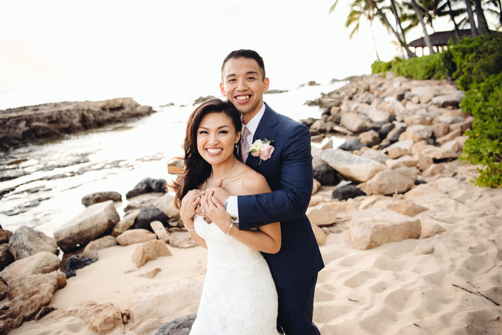 We worked with Couture Weddings Hawaii for our destination wedding on Oahu and we couln't have done it without Shari and her team! I'm not much into cliches, but our wedding was truly the best day of my life-a dream come true!  My husband and I hired Shari as our full time coordinator. Right from our first Skype meeting we could tell that she is very professional, devoted and more importantly, experienced. We quickly knew that we were going to be in great hands!  My husband and I are from New York, and despite the 6 hour time difference, communication was never an issue. She is available via Facetime, Skype, phone, email and text. When we couldn't make a decision, she was always ready to give us her insight. She was very professional in all our encounters, but kept things fun.  When our wedding day finally came, it was absolutely perfect! Everything looked great! Our vendors were awesome and the ceremony and reception ran smoothly.  Planning a wedding, especially destination can be stressful, but if you are in search for a wedding planner than look no further! Shari and her team are a perfect choice! Thank you Shari and Couture Weddings Hawaii!  Miss you!  Much love,  CJ and Brian