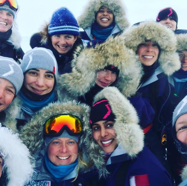 Smiles kept us going! #motivation #smile #thisgirlcan #northpole