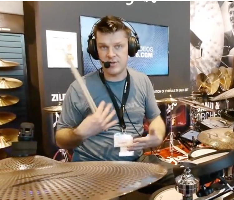 Simon working with Zildjian & Yamaha