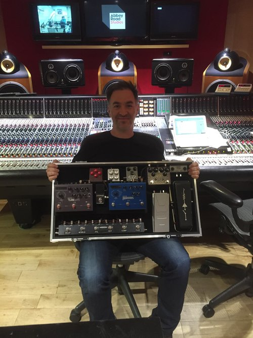 Adam with a selection of FX Pedals!