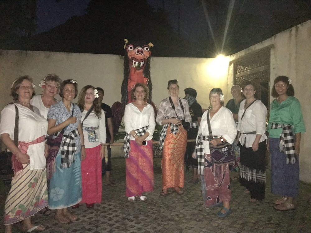 Last year's retreat - the group takes part in the balinese festival of Nyepi