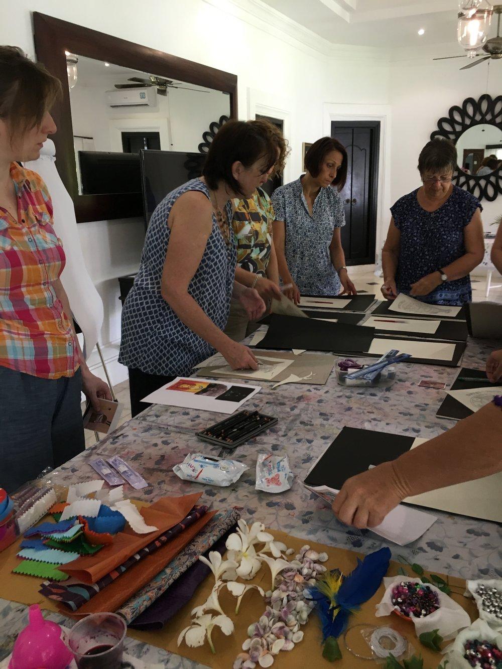 Talking through symbols and creativity - Bali Retreat 2017