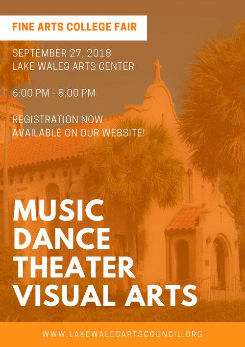 2018 fine arts college fair registration lake wales arts council