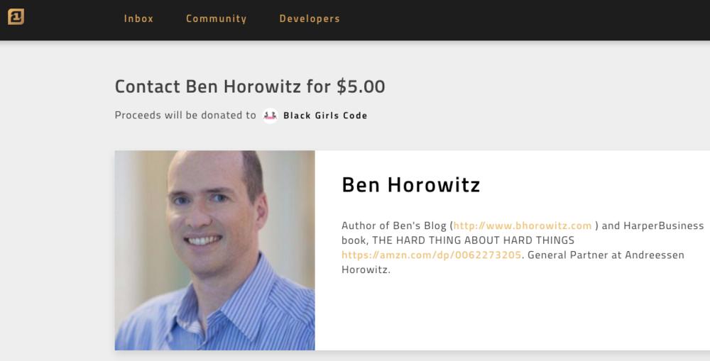 Ben Horowitz Contact