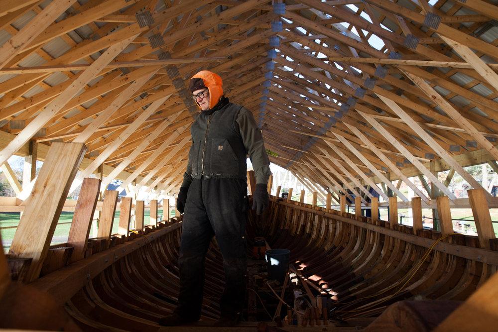 a k shipbuilding refit of schooner mary e
