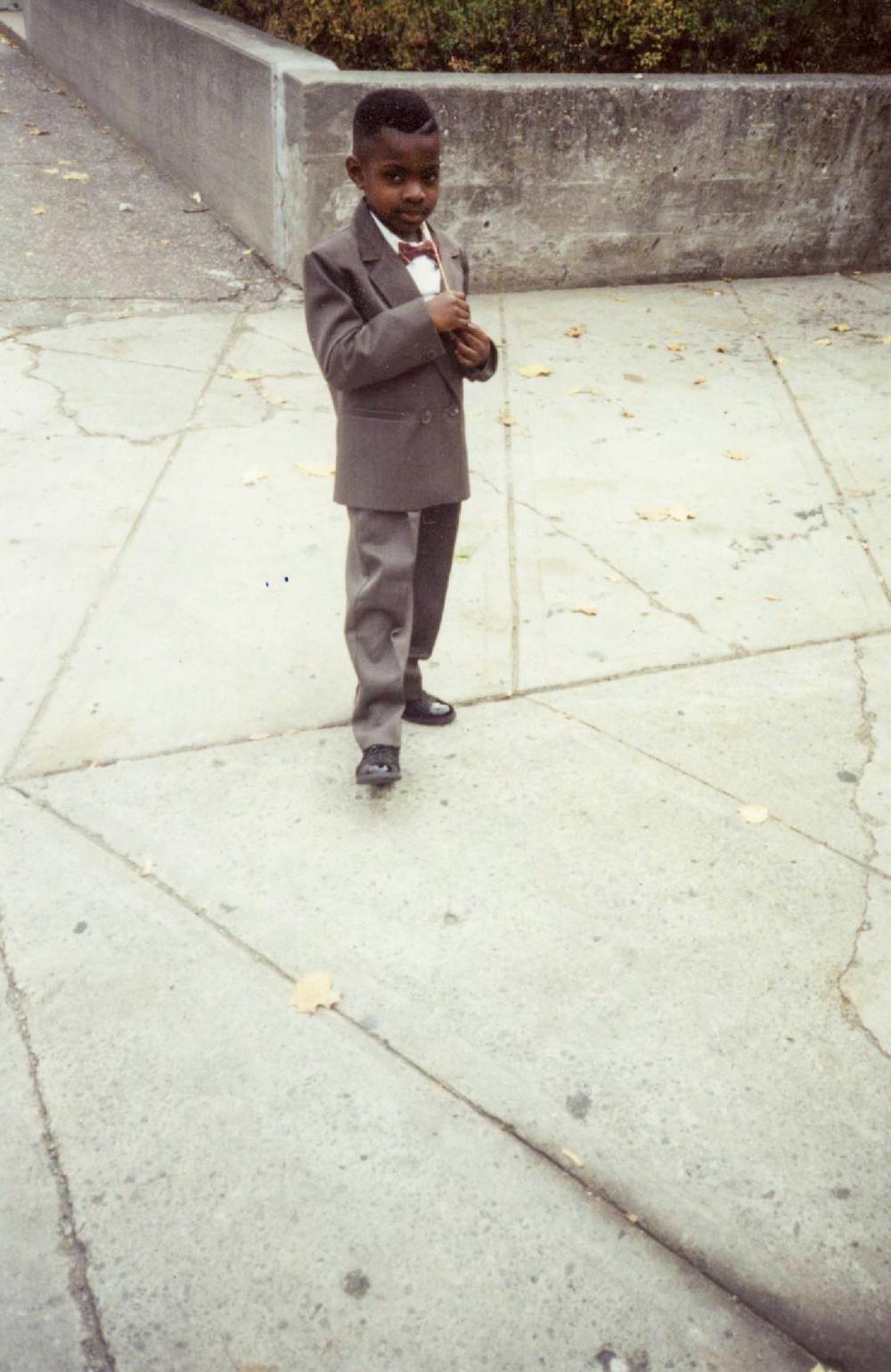 Ralph as a child.