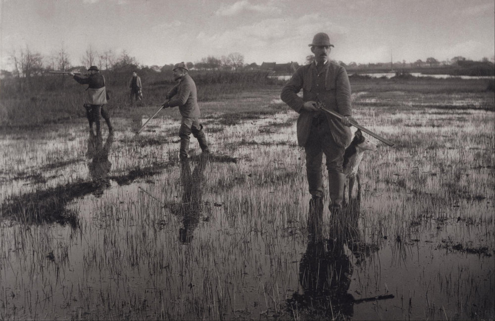 """""""Snipe Shooting"""" A stunning  platinum print  from about 1880 by one of my favourite photographers Peter Henry Emerson."""