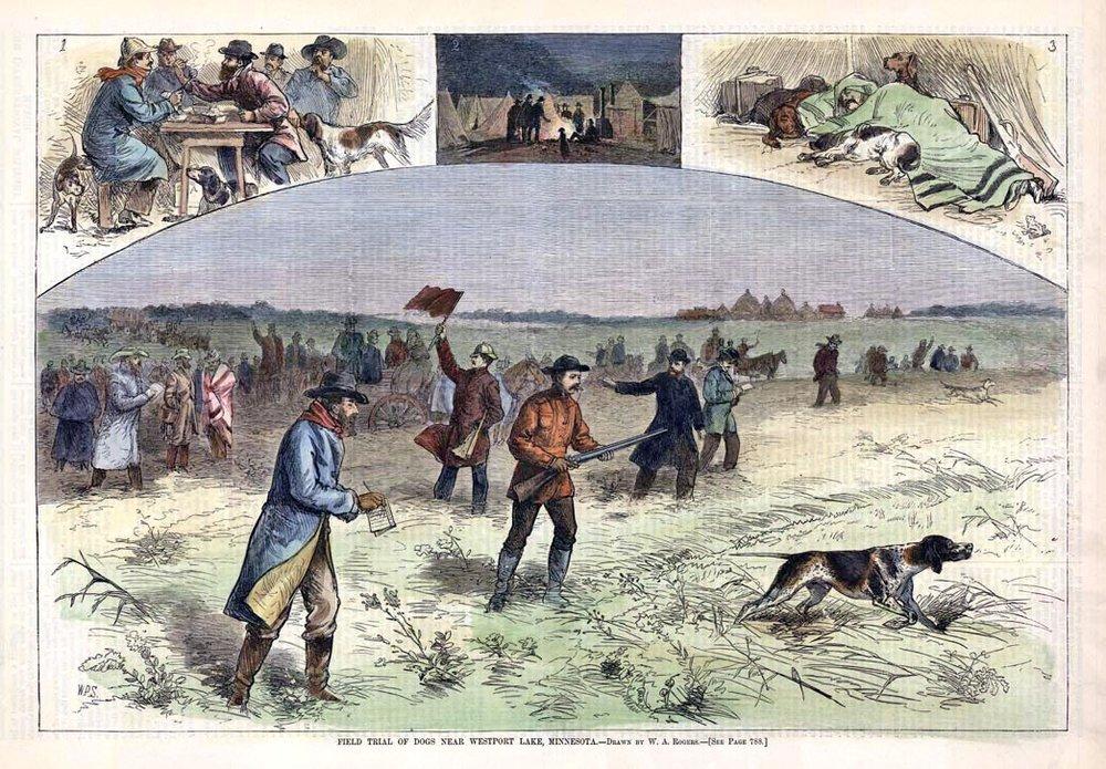 W. Rogers. Field Trial of Dogs near Westport Lake, Minnesota..jpg