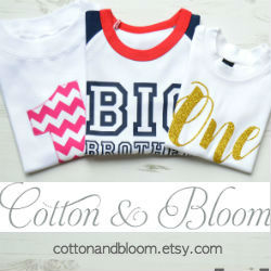 Cotton & Bloom is filled with tops and t-shirts for all your baby's big milestones, from birthdays to a new sibling. Whether it is classic fabrics, sparkly glitter, on-trend geometrics or hand applique that you are after, we are sure to have something that you like. Our shop is bursting with birthday t-shirts, big brother and sister tops, newborn vests, and graphic tees, to make these special occasions.