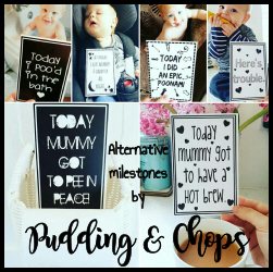 Welcome to Pudding & Chops. We specialise in designing and printing alternative Milestone cards to mark the 'special' moments in your little one's early years.