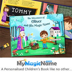 This is no ordinary children's book, every personalised book we create is entirely unique as each illustration and rhyming story is based on the letters of the child's name.